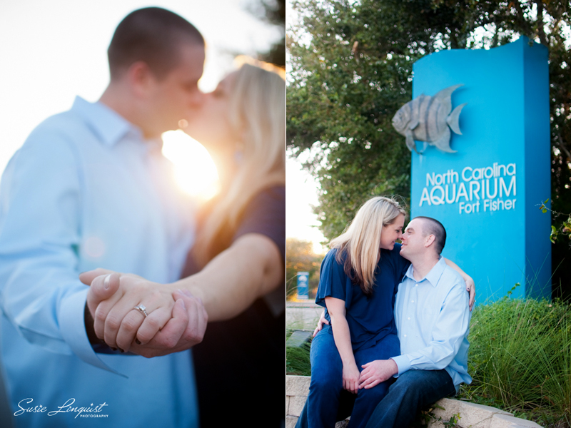 Nikki Chris Engagement Session At Fort Fisher And Nc