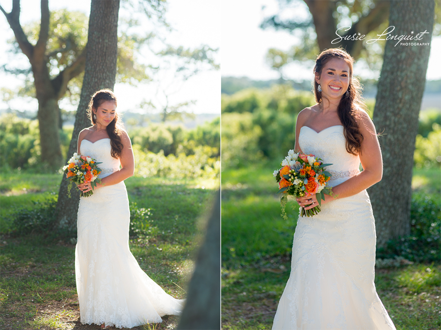 0003.bride and groom portraits fort fisher
