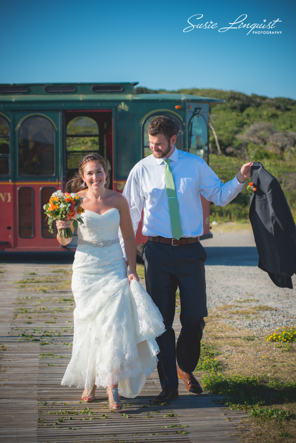 0004.bride and groom portraits fort fisher
