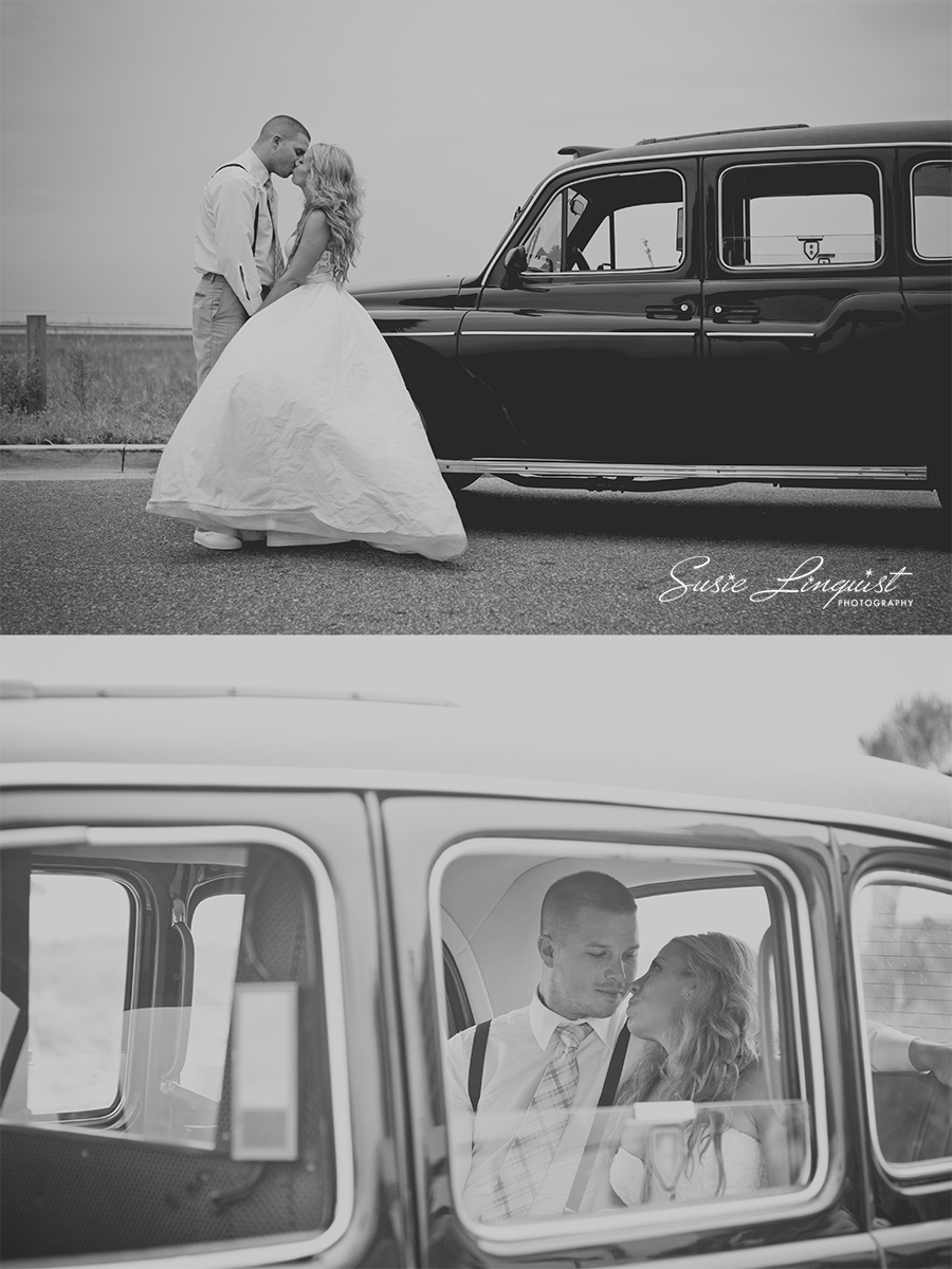 brittish taxi wedding pictures
