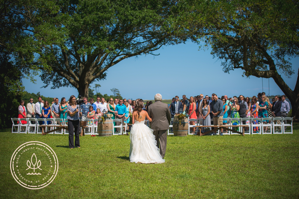 An afternoon waterfront wedding ceremony at Marker 137