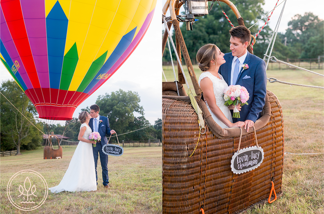 hot air balloon wedding pictures