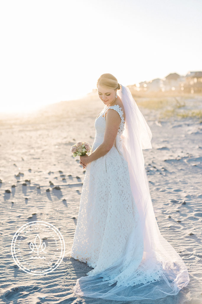 beach bridal portraits wilmington nc